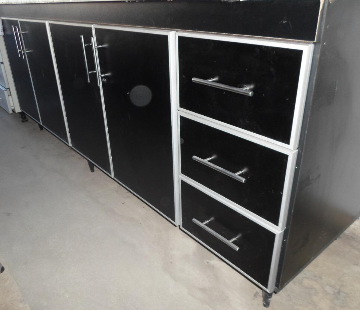 Bajo Mesada Con Cantos De Aluminio Hacemos A Medida 3 979 00  # Muebles Faciles Liniers