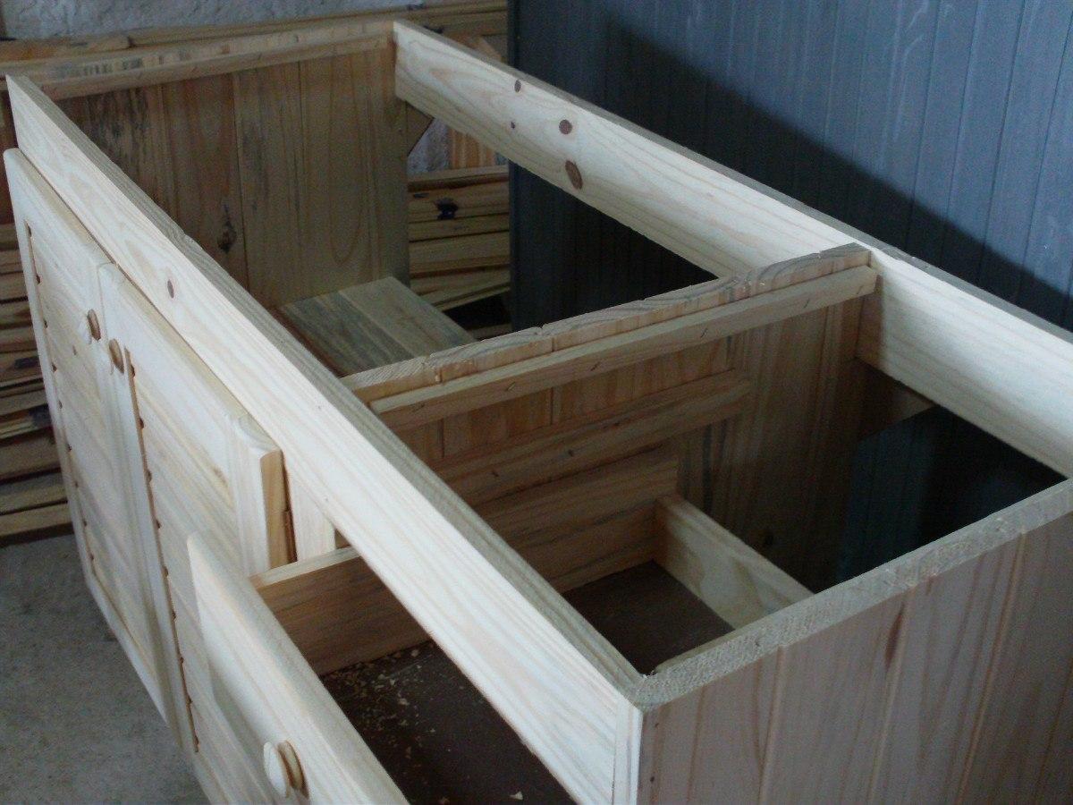Bajo mesada de 100 a 140 de madera maciza en for Mesada de madera para cocina