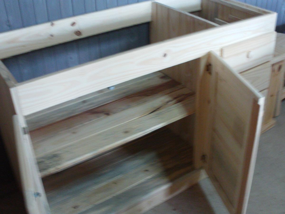 Bajo mesada de 150 a 180 de madera maciza en for Mesada de madera para cocina