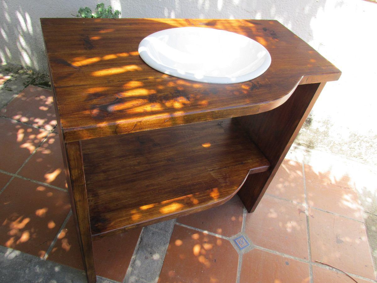 bajo mesada de ba o madera maciza rustico sin bacha 7