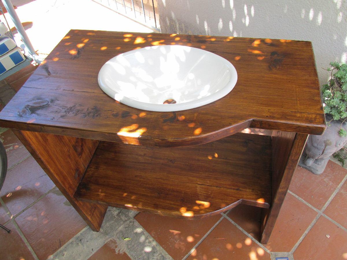 Bajo mesada de ba o madera maciza rustico sin bacha 7 - Muebles bano madera maciza ...
