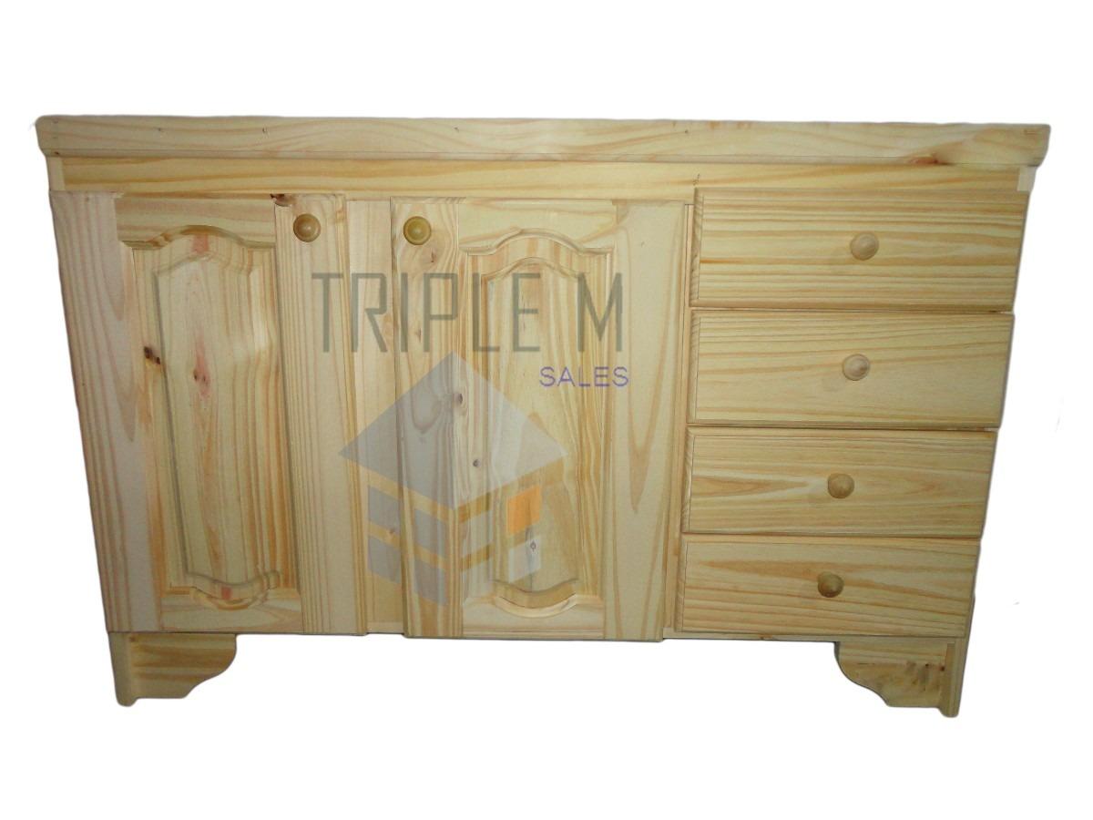 Bajo Mesada En 1 00m Pino Macizo Oferta Muebles De Cocina  # Muebles Laprida