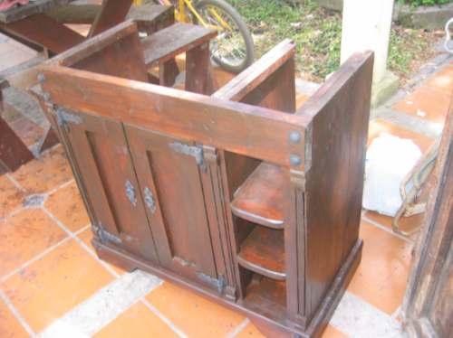 Bajo mesada para bacha de ba o madera maciza for Bajo gabinete tocador bano de madera