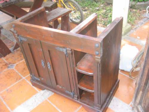 bajo mesada para bacha de baño madera maciza