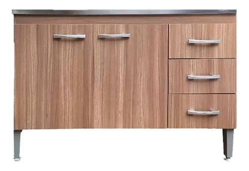 bajo mesada para cocina de 2 puertas + 3 cajones muebles web