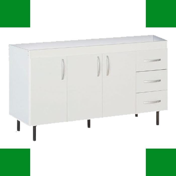 Bajo Mesada Reforzado 1.40 Cocina Oferta Mueble Con Patas 1 ...