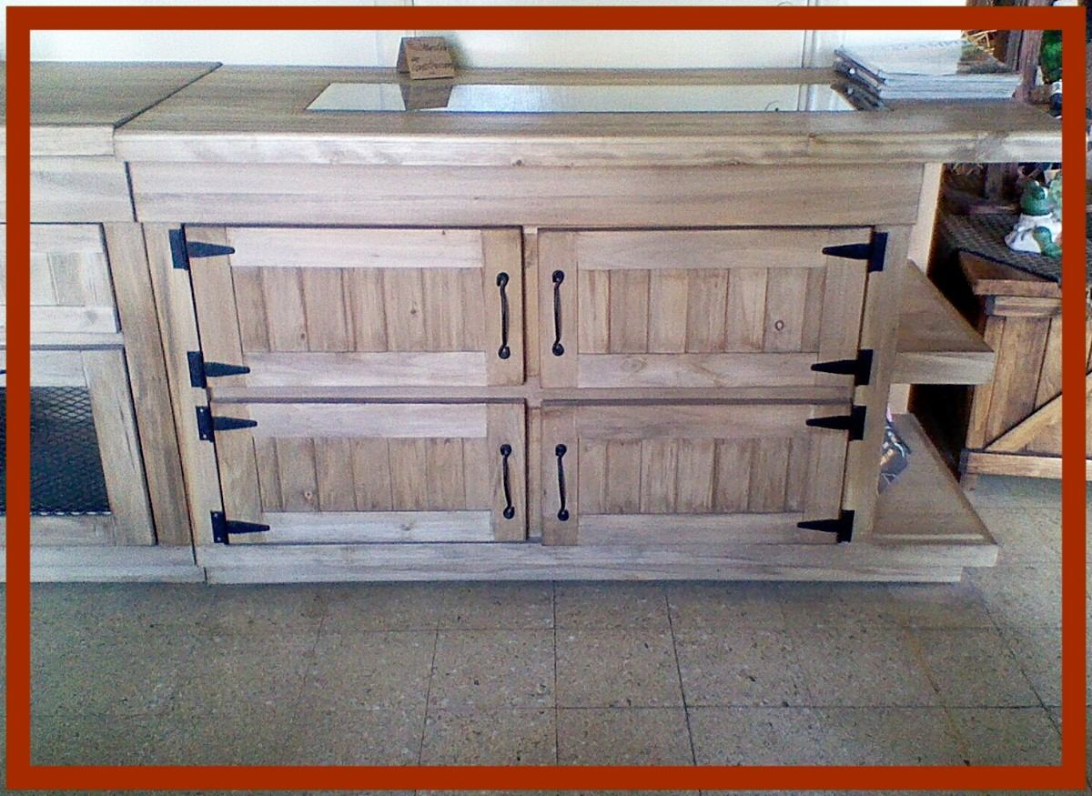 Como hacer una puerta rustica puerta corredera en mueble for Bar de madera estilo campo