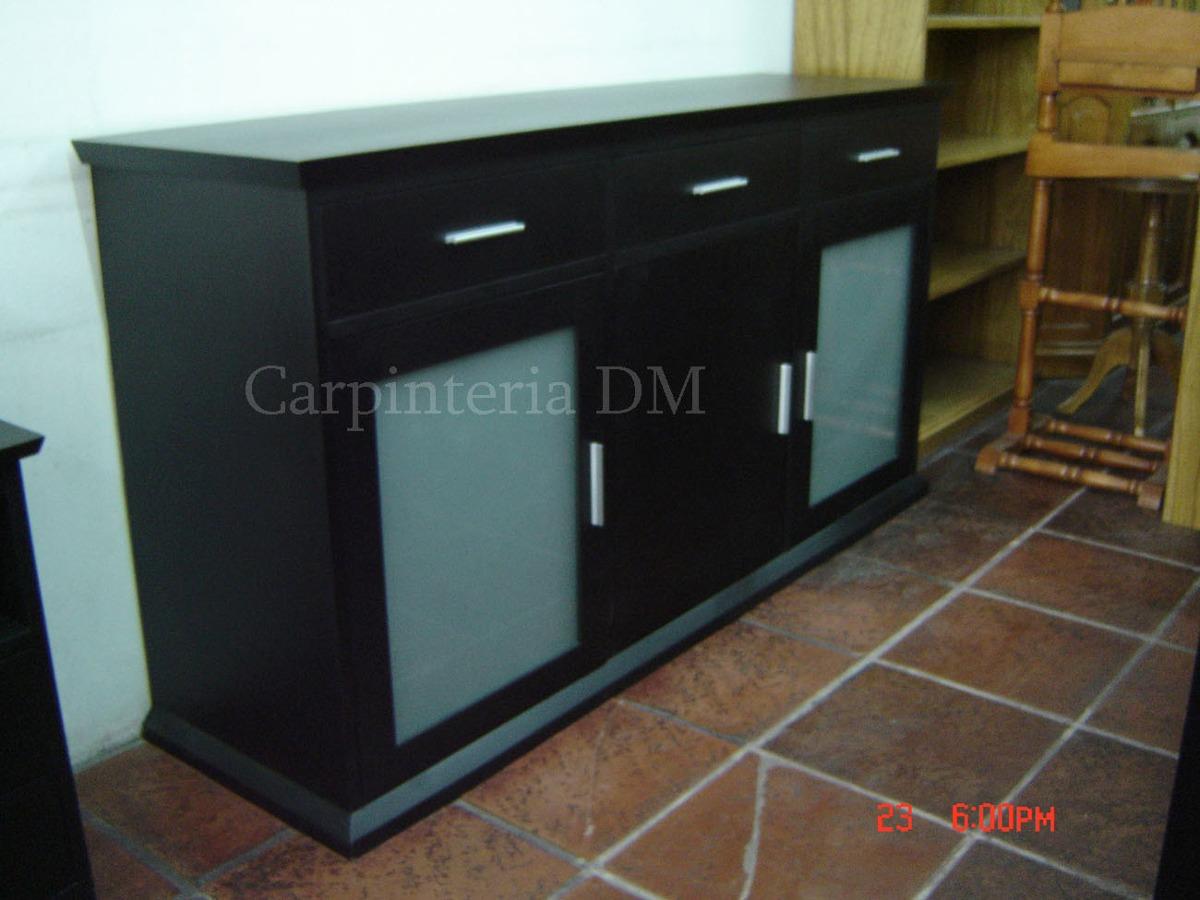 Bajo Moderno Minimalista Wengue Modelo Asia Carpinteria Dm  # Muebles Vajilleros Modernos