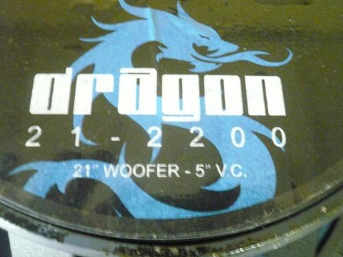 bajo soundbarrier dragon 21' 2200 watts 1100 rms 180vrd