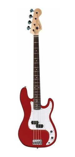 bajo squier precision bass squier california series  red