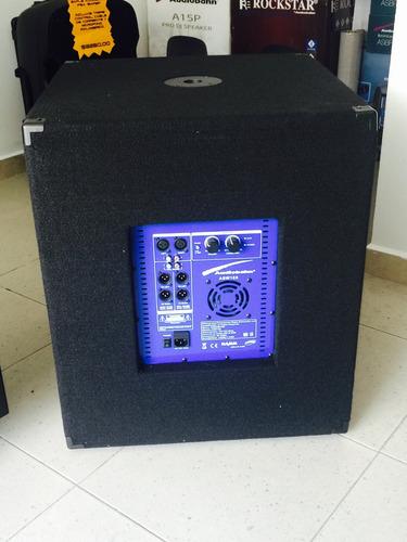 bajo subwoofer de 18  pulgadas audiobahn activo amplificado