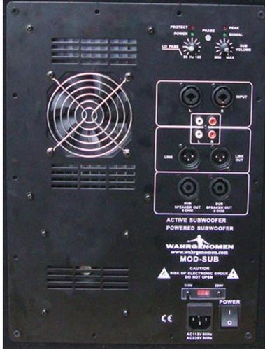 bajo subwoofer grave bi-amplificado 18 potencia 800w rms