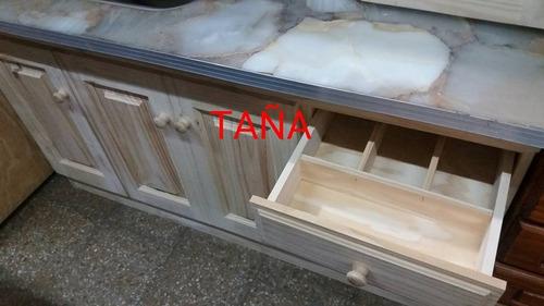 bajomesada 1.40 mt romano pino macizo fabrica taña muebles