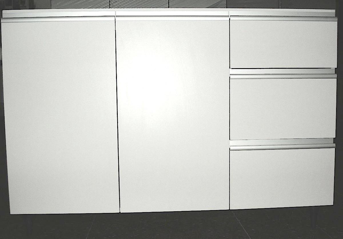 Bajomesada Cocina Melamina 100 X 83 Blanco Perfil Aluminio - $ 3.434 ...