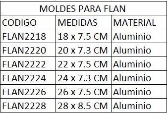 bak flan2228 molde para flan aluminio postre pastelería  #28