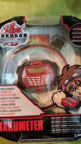 bakugan bakumeter 1 muñequera 2 cartas de poder exclusivas