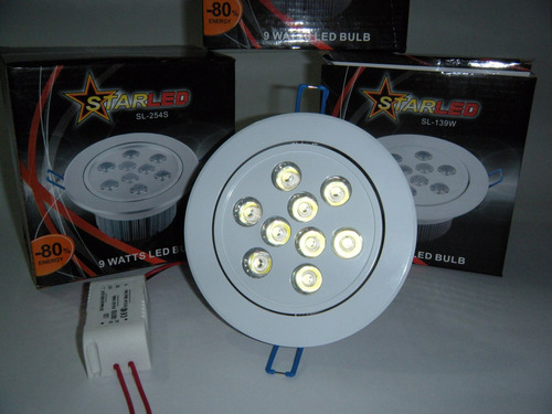 bala de incrustar - multi led 9w - ideal driwall