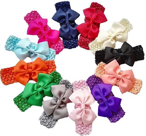 balaca cinta diadema para el pelo niñas tela suave moño 12 u