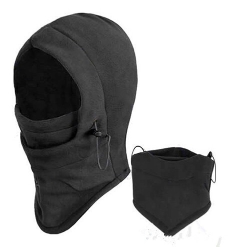balaclava 6 en 1 negro mascara termica ajustable gorro