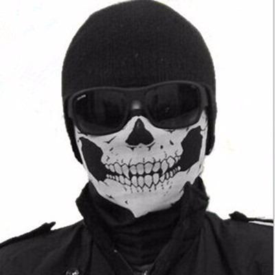 balaclava caveira - paintball airsoft touca toca moto ninja