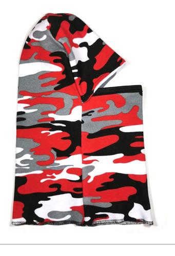 balaclava pasamontañas cubrebocas camuflaje woodland rojo