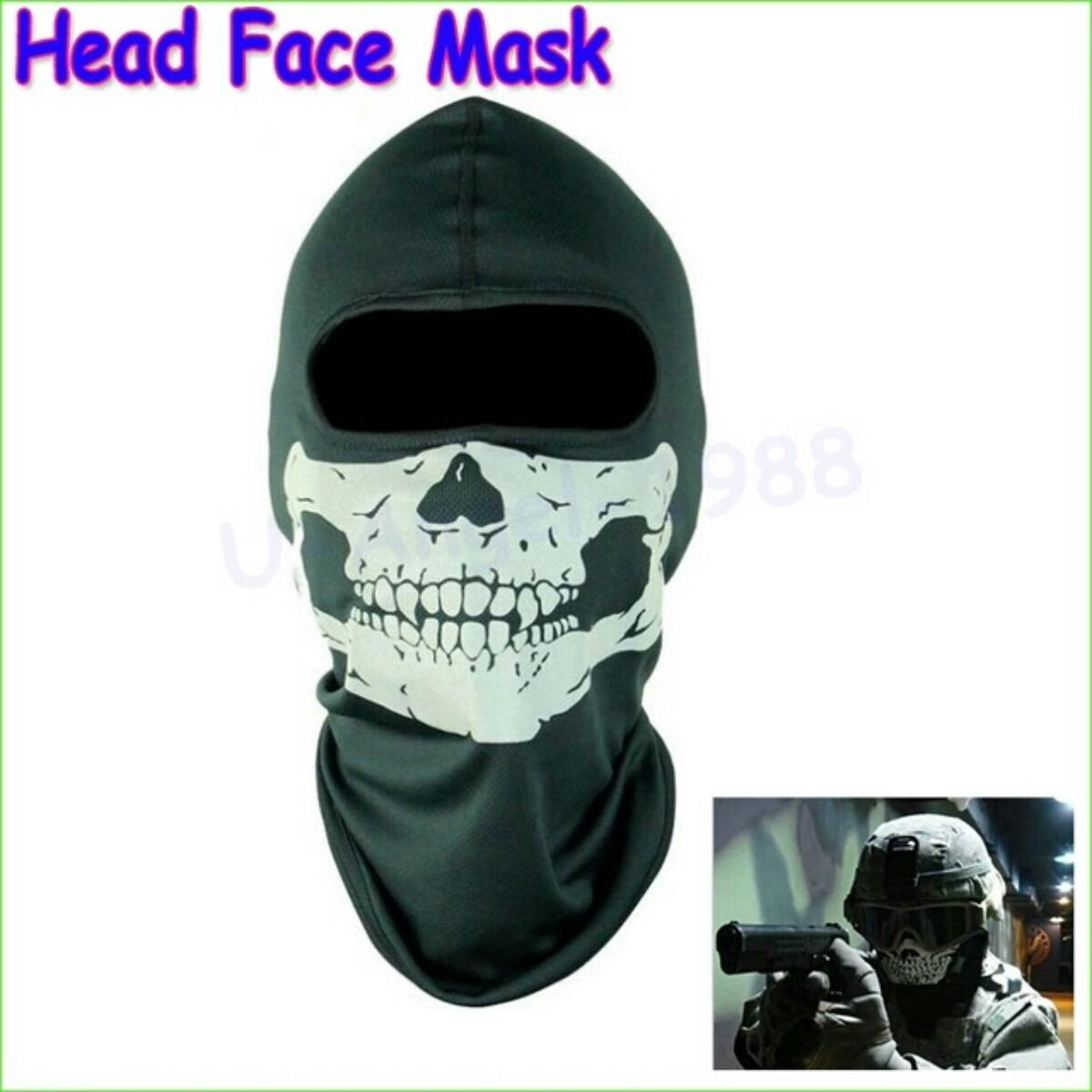 Call Of Duty 10 Cod Ghosts Logan Balaclava Ski Skull Hood: Pasamontaas Mscara QMFIVE Camuflage Cara Completa Militar