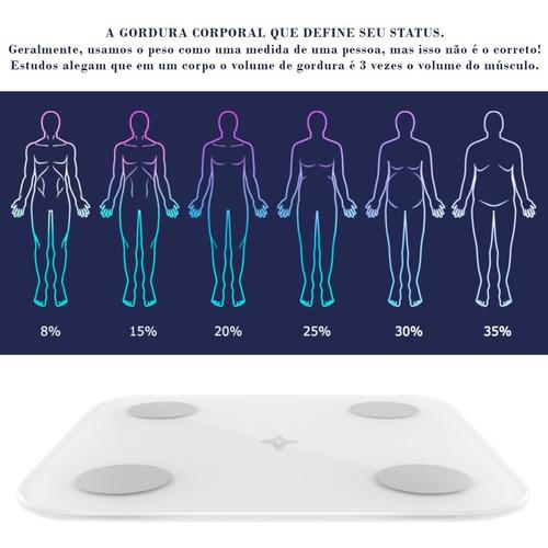balança bioimpedância gordura corporal app bluetooth ekaza