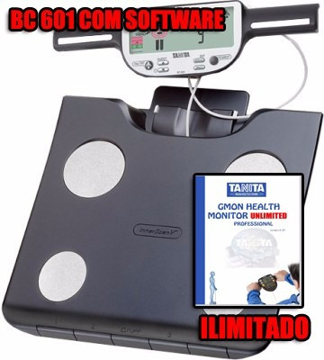 balança bioimpedância tanita bc601 software ilimitado 12x