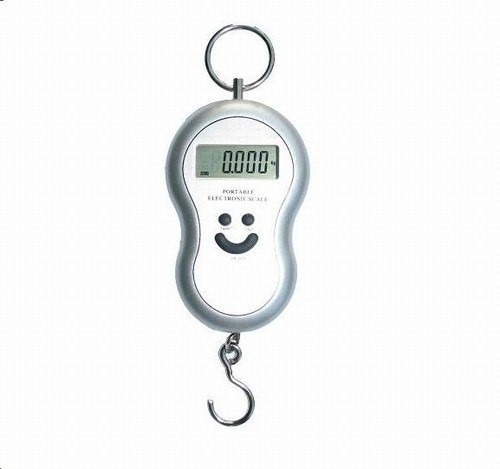 balança de gancho portátil digital - stc01 - pesa até 50kg