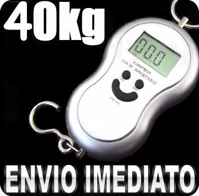 balança digital eletronica 40kg c/ tara gancho cozinha pesca