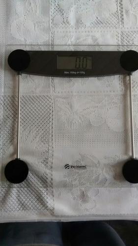 balança digital incoterm de vidro temperado com defeito