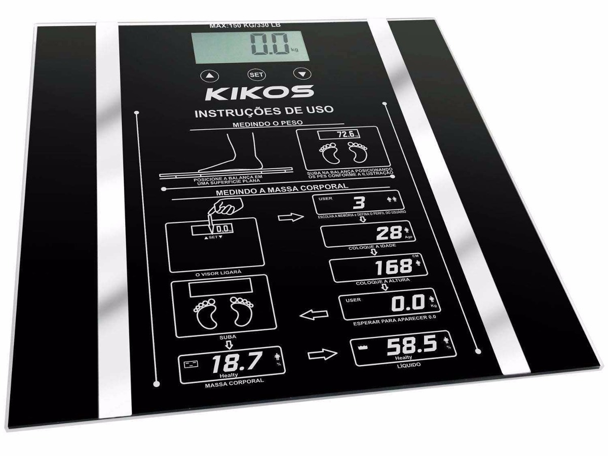 4a4bf52ff Balança Digital Kikos Ison; Medição De Massa Corporal - R$ 59,52 em ...