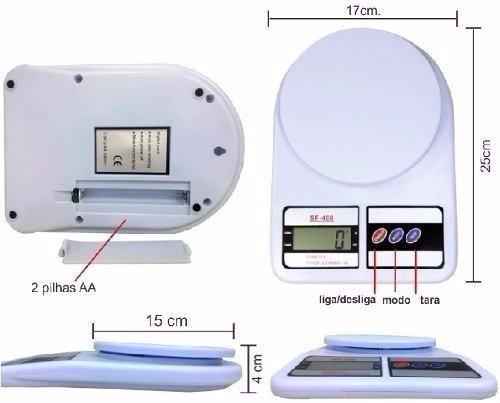balança digital p/cozinha pesa de 1gr até 10kg com garantia