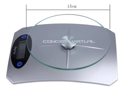 balança digital pesa 1g até 5kg cozinha alta precisão vidro