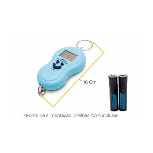 balança digital portatil ate 50kg com gancho ideal p/ pesca