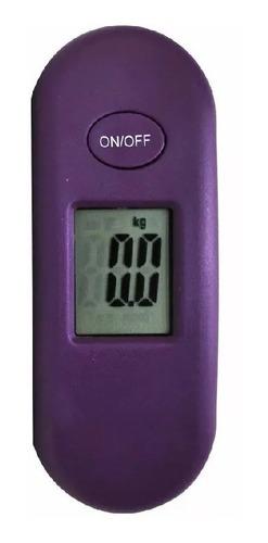 balança digital portátil para mala yins roxa  - 27022