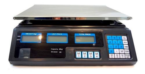 balança digital restaurante 5g até 40 kilos com função tara