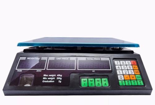 balança eletrônica digital 40kg 5g alta precisão completa