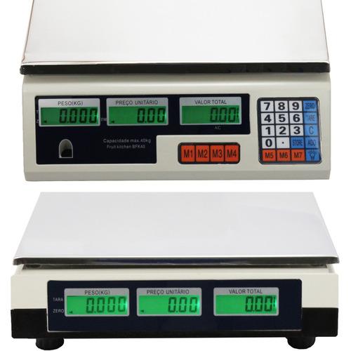 balança eletrônica digital 40kg residencial - alta precisão