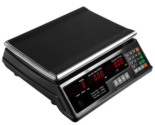 balança eletrônica digital bivolt alta precisão preta