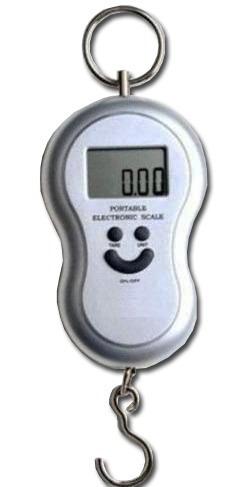 balança portátil digital gancho e função tara pesa até 40kg