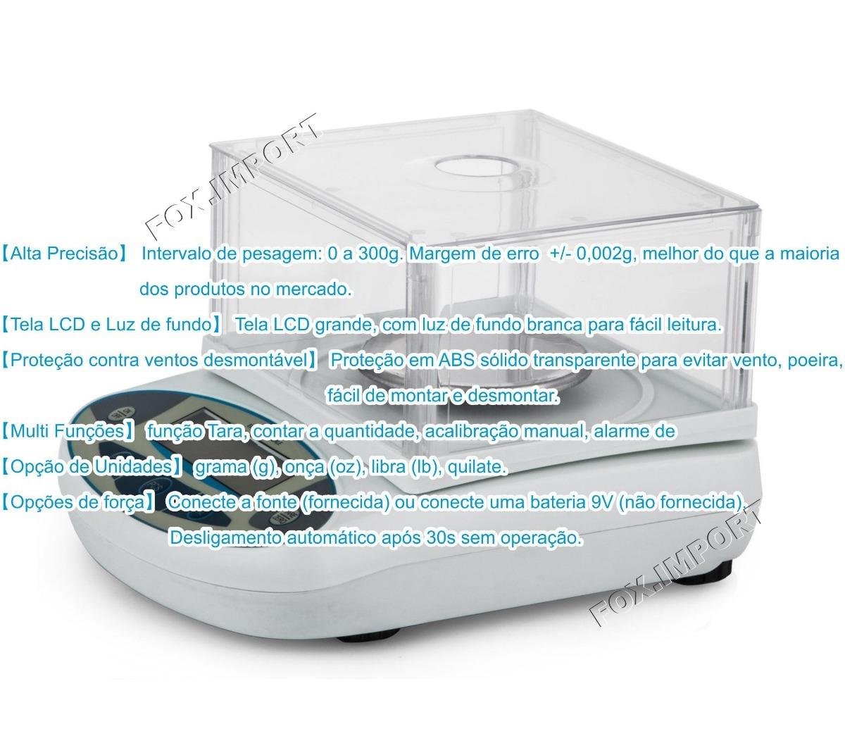 722c09b9c80 Balança Semi-analítica - Vevor 300g X 0,001g - R$ 1.999,00 em ...