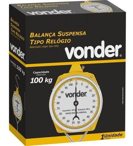 balança suspensa tipo relógio 100 kg vonder - rural etc