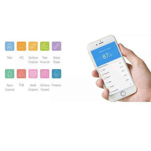 balança yunmai inteligente bioimpedância bluetooth com app