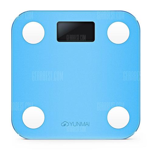 balança yunmai m1501 inteligente bluetooth app blue azul