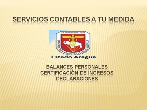 balance personal, certificacion de ingresos,  islr