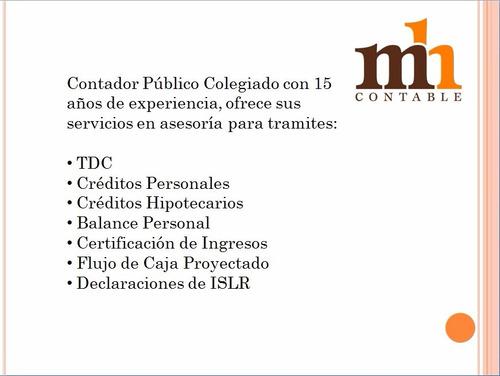 balance personal, certificación de ingresos maracaibo