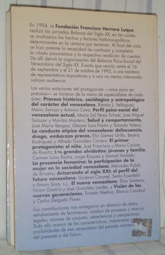 balance psicosocial del venezolano del siglo xx