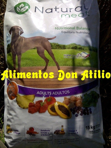 balanceado natural meat adulto x 15 kg
