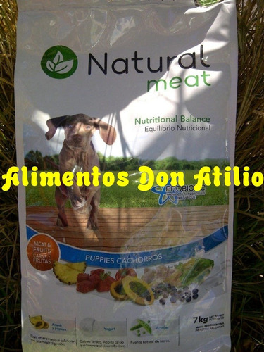 balanceado natural meat cachorros  x 15 kg